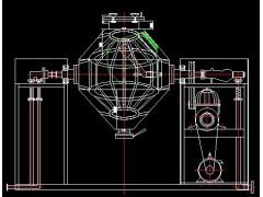 双锥回转真空干燥机,内胆新增鸟笼设置缩短烘干时间,节约能源。