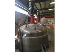 供应二手10吨里外镜面抛光不锈钢反应釜