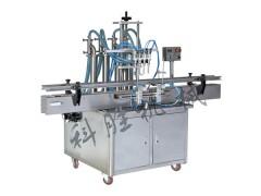 唐山科胜四头全自动液体灌装机|酱油调味品灌装机